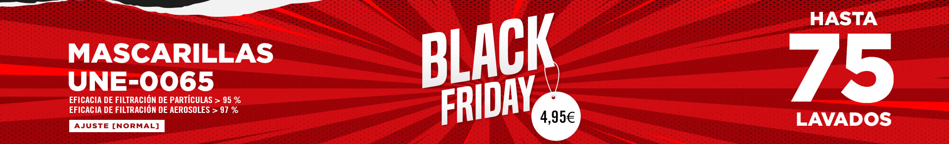 Black Friday. Descuentos en Mascarillas de tela Hologadas